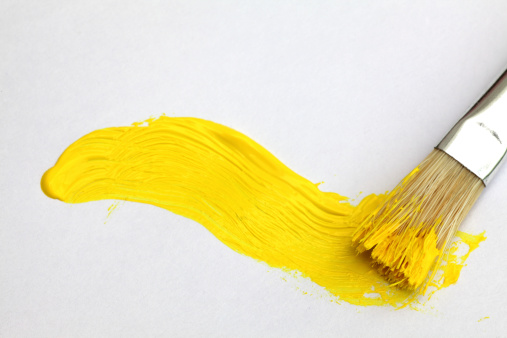 黄色「黄色のペイント」:スマホ壁紙(10)