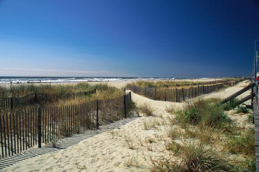オーシャンシティー「Sandy pathway to beach」:スマホ壁紙(4)