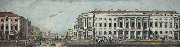 Panoramic「The Police Bridge with the Stroganov Palace From the panorama of the Nevsky Prospekt, 1830」:写真・画像(18)[壁紙.com]