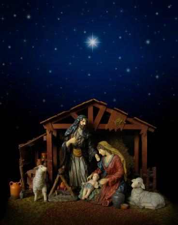 Virgin Mary「Nativity Scene at Night (with stable)」:スマホ壁紙(11)
