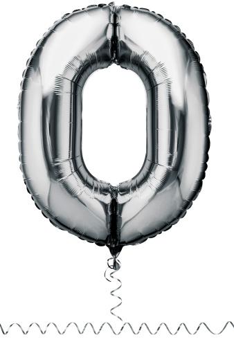 Zero「Silver balloon in the shape of a number zero」:スマホ壁紙(18)