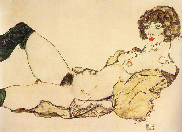 20th Century「Lying Nude With Green Stockings」:写真・画像(9)[壁紙.com]