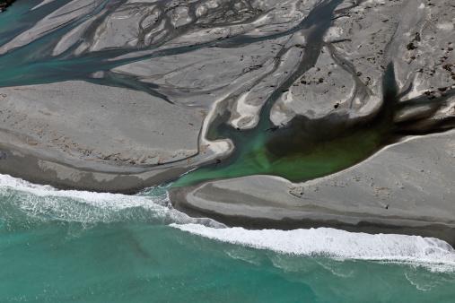 Westland - South Island New Zealand「River Delta」:スマホ壁紙(4)