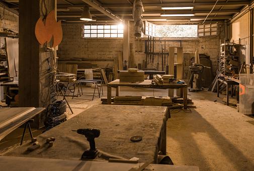 ������「Carpentry workshop without people.」:スマホ壁紙(11)