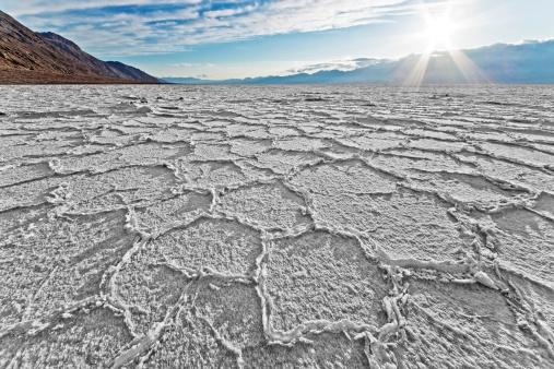 Lake Bed「Sunset at Salt Lake Badwater」:スマホ壁紙(18)