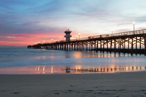 Bay of Water「Sunset at Seal Beach pier」:スマホ壁紙(10)