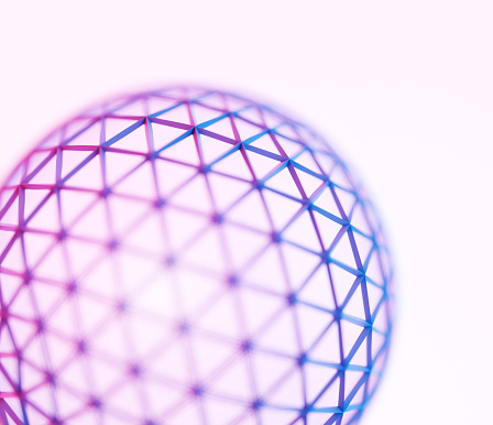 Wire-frame Model「Wireframe sphere」:スマホ壁紙(11)