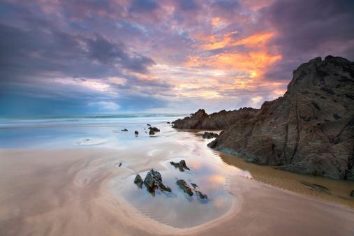 Cornwall - England「Atlantic Sunset」:スマホ壁紙(12)