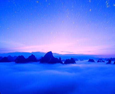 星空「Lijiang,Guilin,Guangxi,China」:スマホ壁紙(1)