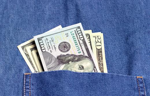 American One Hundred Dollar Bill「Bribe in pocket」:スマホ壁紙(15)