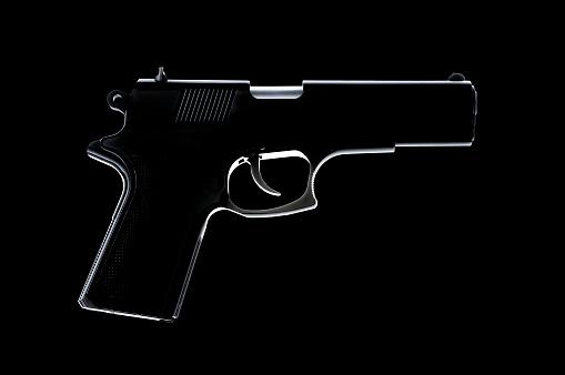 Handgun「Silhouette of Handgun」:スマホ壁紙(17)