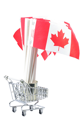 Caddy「Canadian Flags in shopping cart」:スマホ壁紙(18)