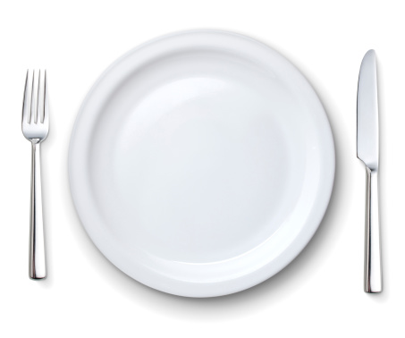 Table Knife「Perfect white plate with knife and fork」:スマホ壁紙(19)
