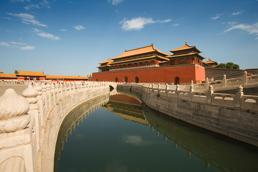Feng Shui「China, Beijing, Forbidden City, The Wu Men Gate, Golden River Bridge」:スマホ壁紙(13)