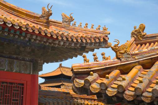 Dragon「China, Beijing, Forbidden City, elaborate rooftops」:スマホ壁紙(3)