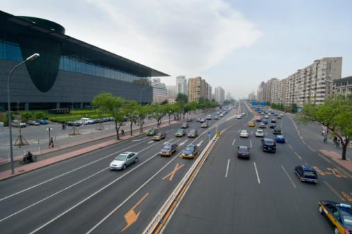 Karin「China, Beijing, Traffic, high angle view」:スマホ壁紙(18)