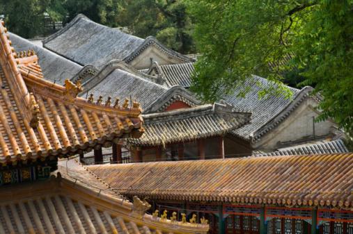 Karin「China, Beijing, Rooftops, high angle view」:スマホ壁紙(16)