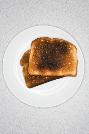 Loaf of Bread「Burned toast on plate」:スマホ壁紙(17)