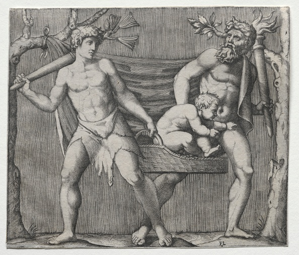 30-34 Years「Two Fauns Carrying A Child In A Basket」:写真・画像(0)[壁紙.com]