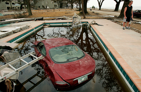 High Angle View「Mississippi Continues Recovery Efforts After Hurricane Katrina」:写真・画像(0)[壁紙.com]