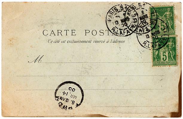 Old French postcard posted in Paris 1900:スマホ壁紙(壁紙.com)