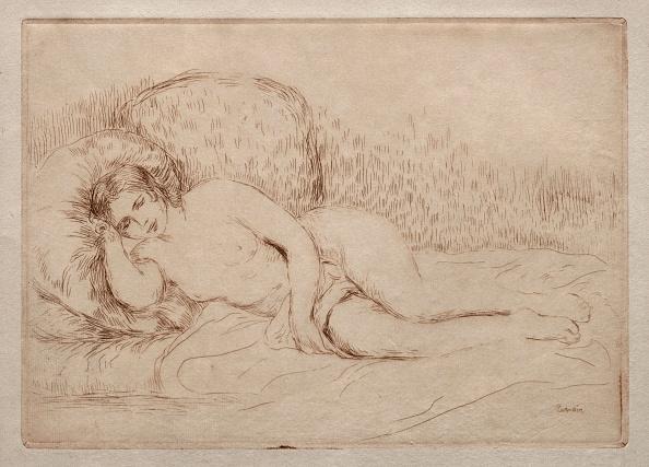 Etching「Femme Nue Couchée」:写真・画像(11)[壁紙.com]