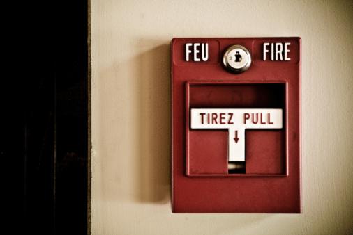 Bilingual「Fire alarm on wall」:スマホ壁紙(6)