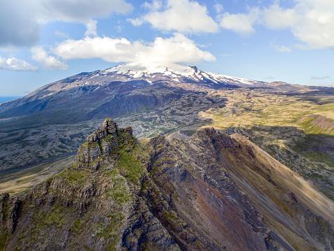 Arnarstapi「Arnarstapi and Snaefellsjokull, national park.」:スマホ壁紙(9)