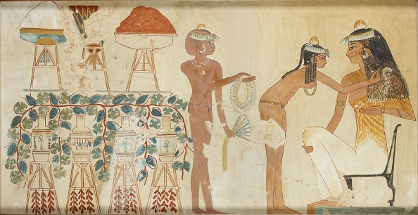 Painted Image「Copy Of Wall Painting From Private Tomb 38 Of Djeserkeresonb」:写真・画像(6)[壁紙.com]
