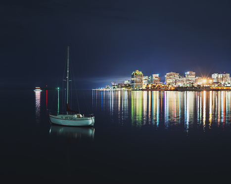 Yacht「Halifax Harbour at Night」:スマホ壁紙(5)