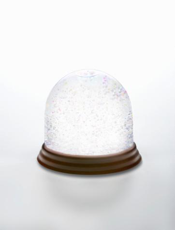 スノードーム「White Snow Globe」:スマホ壁紙(2)