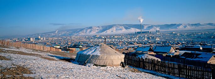 Tent「Mongolia, Ulaan Batar suburb, Yurt area」:スマホ壁紙(0)