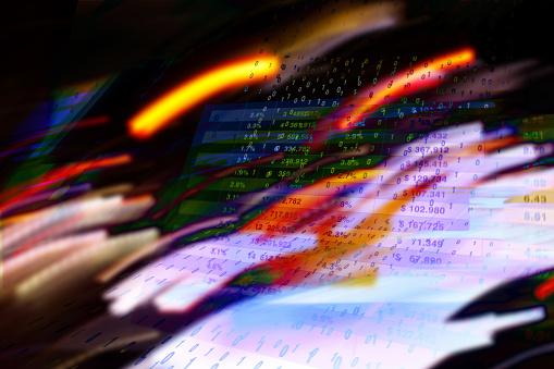Quantum Computing「Abstracted financial screens and data.」:スマホ壁紙(15)