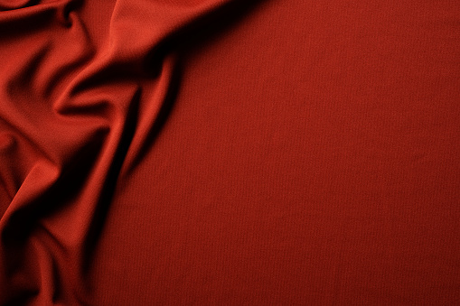 Textured「Red fabric texture of wave pattern with copy space」:スマホ壁紙(1)