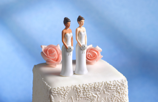 Equality「Lesbian wedding cake figurine」:スマホ壁紙(1)
