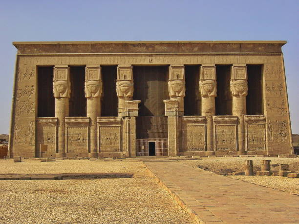 Egypt, Dendera nearby Luxor. The Temple of Hathor.:スマホ壁紙(壁紙.com)