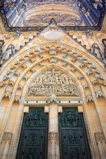 St Vitus's Cathedral「Portal of Saint Vitus cathedral in Prague」:スマホ壁紙(4)