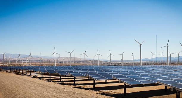 Renewable Energy - Solar and Windmills:スマホ壁紙(壁紙.com)