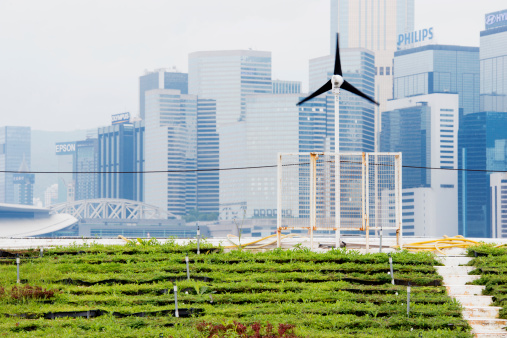 Wind Turbine「Renewable Energy Green Urban Farming in Hong Kong China」:スマホ壁紙(11)