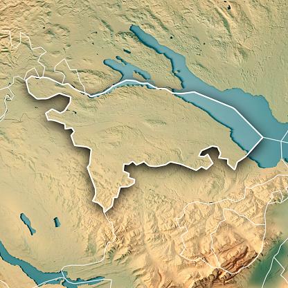 Map「トゥールガウ州カントンのスイス連邦共和国の 3 D は、地形図の枠線を表示します。」:スマホ壁紙(14)