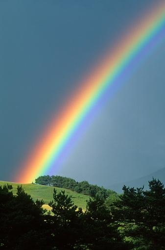 虹「レインボーされる、丘の上」:スマホ壁紙(18)