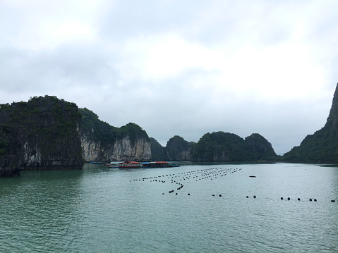 Limestone「Ha Long Bay views of limestone karsts and isles」:スマホ壁紙(14)
