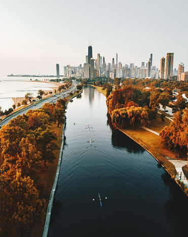 Great Lakes「autumn skyline of chicago」:スマホ壁紙(18)
