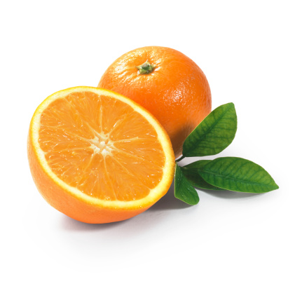 Orange - Fruit「Tangerine duo with Leafs」:スマホ壁紙(2)