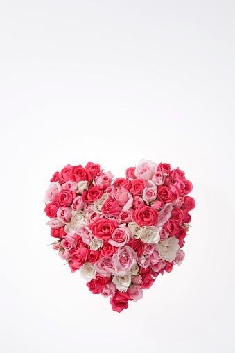 ハート「Rose bouquet」:スマホ壁紙(12)