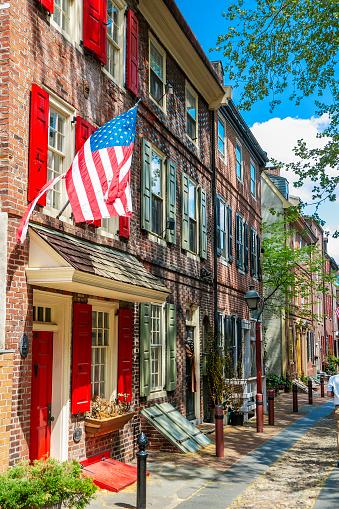 Pennsylvania「Elfreth's Alley in Philadelphia, Pennsylvania」:スマホ壁紙(19)