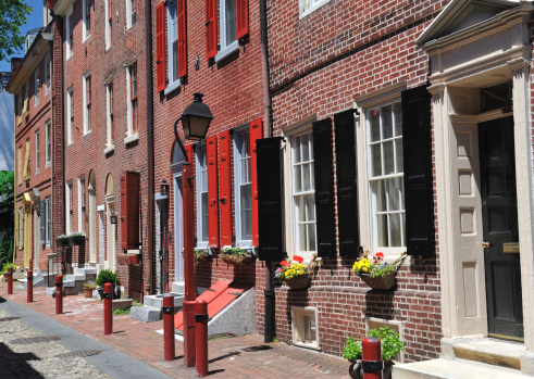 Philadelphia - Pennsylvania「Elfreth's Alley in Philadelphia」:スマホ壁紙(13)