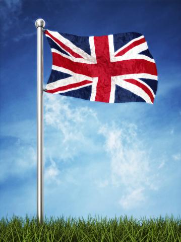 ユニオンジャック「英国旗を振るホリゾント」:スマホ壁紙(7)