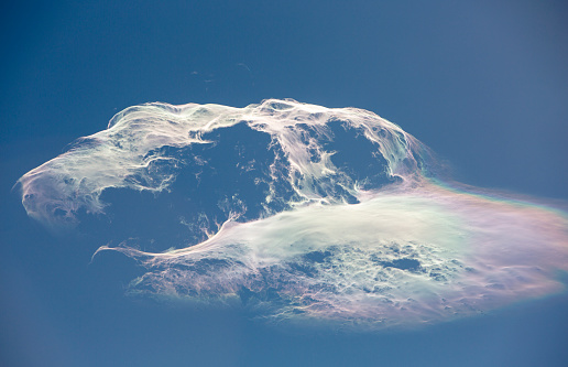 Himalayas「Jet stream winds over the Annapurna Himalayas in Nepal, with rainbow colors」:スマホ壁紙(5)