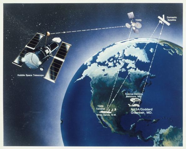 Hubble Space Telescope「Drawing of Hubble Telescope, 1980s.」:写真・画像(14)[壁紙.com]